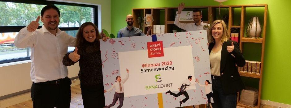 Sanacount wint Exact Samenwerking Award 2020