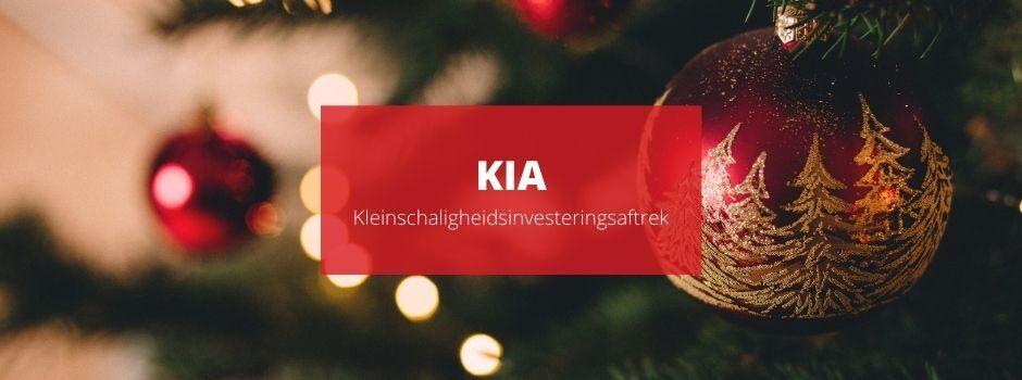 Kleinschaligheidsinvesteringsaftrek (KIA) – Hét kerstcadeau van de Belastingdienst - BLogs - Nieuws - Sanacount
